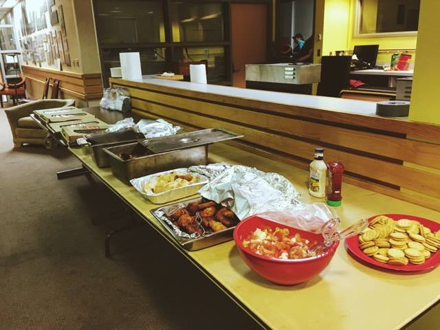 Samoan food prepared by Penitani for a community birthday party for her daughter.