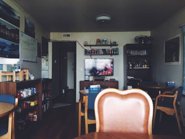 The interior of the Blue Bird Cafe.