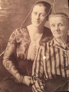 My great-great-grandma pictured with her mother. Her mother, my great-great-great-grandmother never spoke English, only Danish. I wonder if she liked to cook?