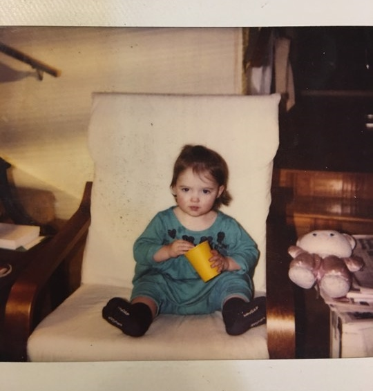 Me as a baby in my grandparents house