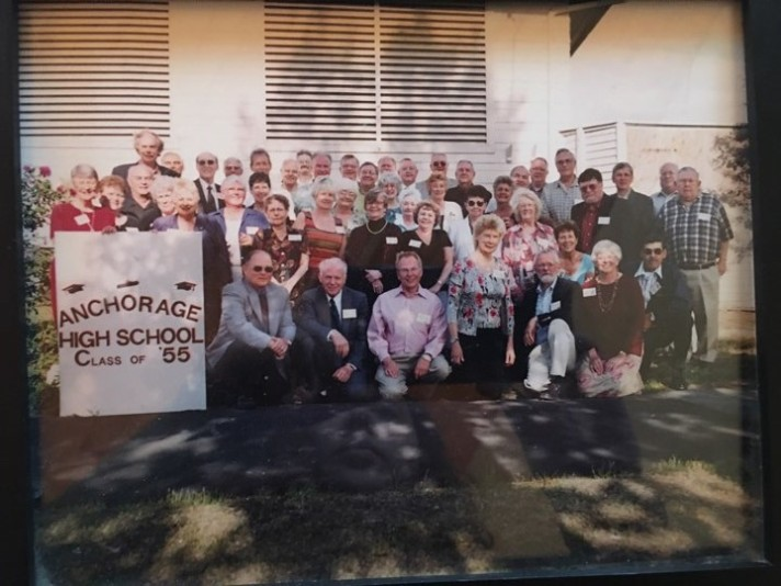 David and the Anchorage High School class of 1955 at their 50th reunion